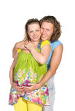 期待方式的3对婴孩夫妇 库存图片
