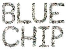 蓝筹-起皱的100$票据 免版税库存照片