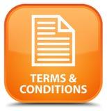 期限和条件(页象)特别橙色方形的按钮 向量例证