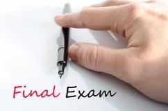 期终考试文本概念 库存照片
