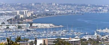朦胧大气在圣地亚哥加利福尼亚。 免版税库存图片