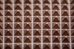 木三角背景纹理 免版税库存照片