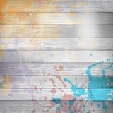 木与油漆飞溅模板 正EPS10 免版税图库摄影