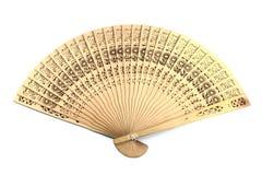 木中国风扇的现有量 免版税库存照片