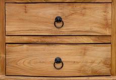 木书桌抽屉 库存照片