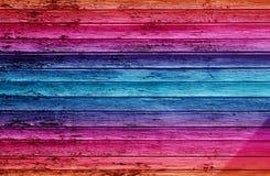 木五颜六色的墙壁 免版税库存图片
