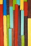 木五颜六色的墙壁 库存图片