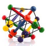 木五颜六色的玩具 免版税库存照片