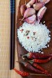 木亚洲杯子的食品成分 库存图片
