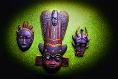 木亚洲面具演播室质量光 库存照片