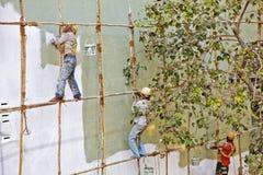 木仅有的油漆工英尺印度的绞刑台 免版税库存图片