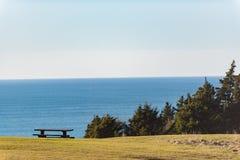 木位子美丽如画的看法在海边附近的 图库摄影