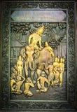 木佛教,寺庙, 免版税库存图片