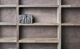 木信件印刷品 免版税图库摄影