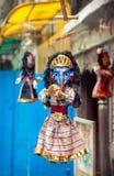 木偶在尼泊尔市场上 库存照片