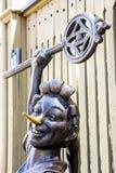木偶奇遇记古铜色雕象  免版税库存照片
