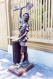 木偶奇遇记古铜色雕象  免版税库存图片