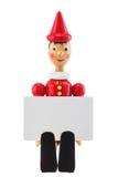 木偶奇遇记说谎者玩具雕象和被隔绝的空插件演播室 库存图片