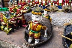 水木偶玩偶 免版税图库摄影
