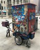 木偶自行车 库存图片