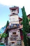 木偶钟楼在第比利斯 免版税图库摄影