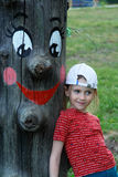 木儿童的神象 免版税库存照片