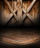 木几何场面背景和地板 木地方 免版税库存图片