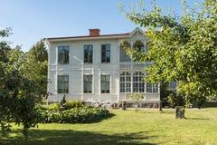 木别墅老林雪平瑞典 库存照片