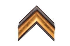 木制框架或长方形宝石 库存照片