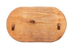 木制框架由轻的木头制成与木堵嘴和与您的创造性的一个地方 查出 图库摄影