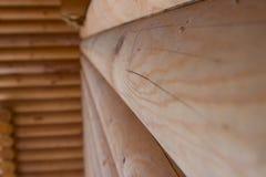 木制框架的议院 免版税库存照片