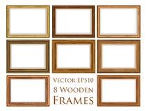 木制框架集合 皇族释放例证