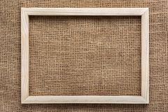 木制框架顶视图在大袋的 库存照片