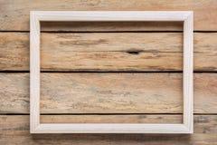 木制框架顶视图在桌上的 库存图片