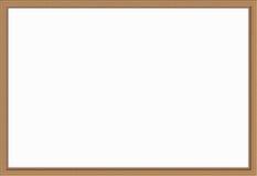 木制框架-例证 免版税库存照片