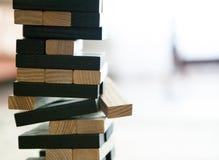 木刻堆积与拷贝空间,背景的比赛 教育、风险、发展和成长的概念 库存图片