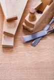 木匠业凿木工飞机和板条  图库摄影