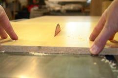 木匠业剪切锯表 免版税库存照片