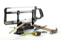 木匠业工具 免版税图库摄影