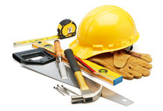 木匠业工具 库存照片