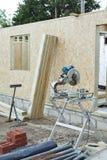 木匠业房子修造 免版税库存图片