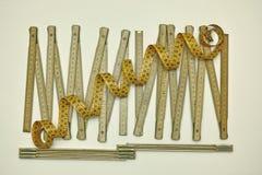 木匠和泰勒测量工具 库存图片