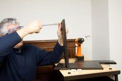 木匠在工作 免版税图库摄影