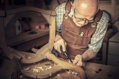 木匠在车间 免版税库存图片