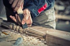 木匠实施日志概略的来回跟踪工作 图库摄影