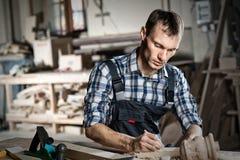 木匠实施日志概略的来回跟踪工作 免版税库存照片