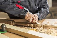 木匠实施日志概略的来回跟踪工作 库存照片