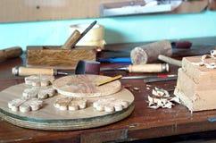 木匠工作凳 免版税库存图片