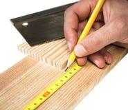木匠工作 免版税库存图片