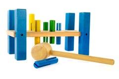 木匠工具玩具 免版税库存照片